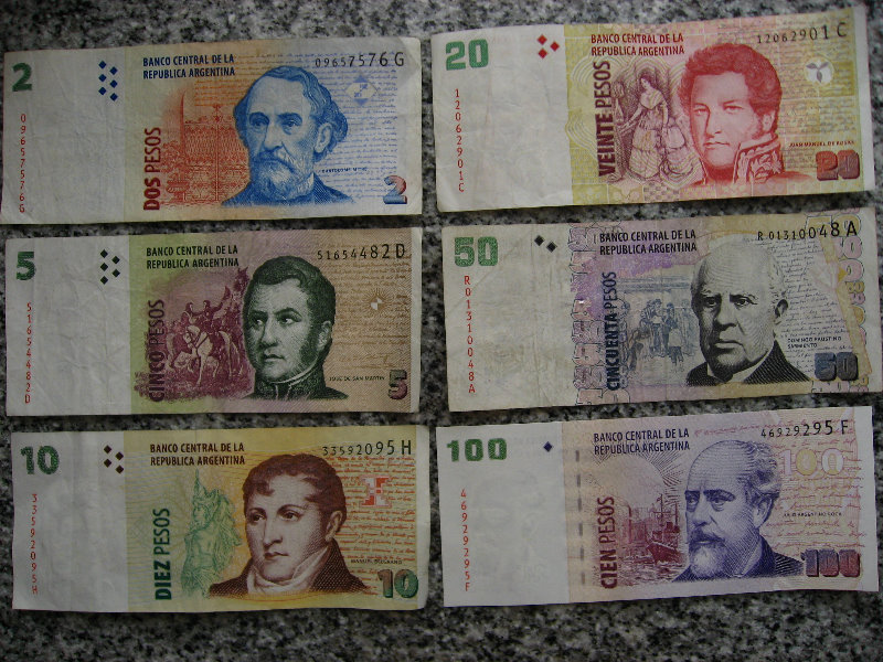 Argentine Currency Ars Pesos 002